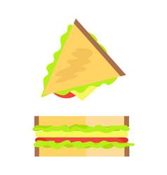 Sandwich made bread set vector