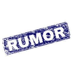 Scratched rumor framed rounded rectangle stamp vector