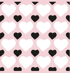 seamless pattern of heart vector image