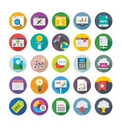 Seo and digital marketing icons 11 vector
