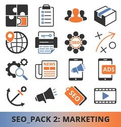 Seo marketing pack vector