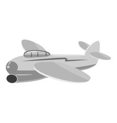 Small plane icon gray monochrome style vector