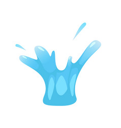 splash of liquid water splutter for vector image