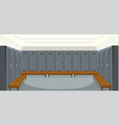 sport changing room with locker background vector image