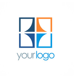 square geometry color company logo vector image