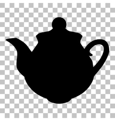 Tea maker sign Flat style black icon on vector image