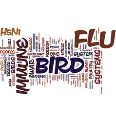 the bird flu and the immune system don t leave vector image