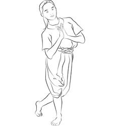 The Thai national dances vector image
