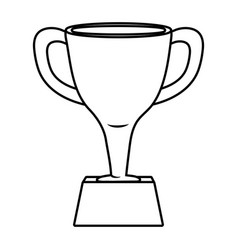 Trophy icon cartoon black and white vector