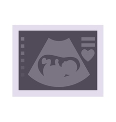 Ultrasound baby vector image