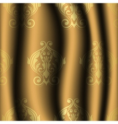 Vintage material with gold pattern vector