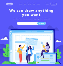 web site design template creative team vector image