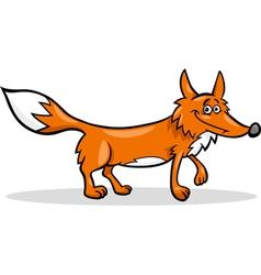 Wild fox cartoon vector
