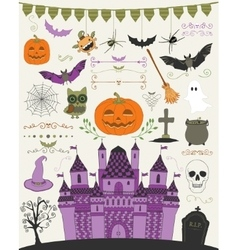Colorful hand sketched doodle halloween vector