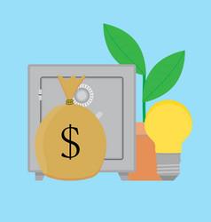 finance idea concept vector image vector image
