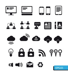 Internet icons set vector image vector image