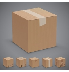 Boxes vector image vector image
