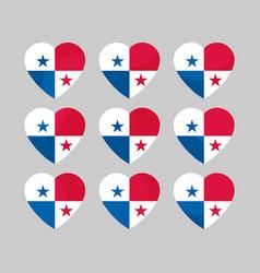 heart with the flag of panama i love panama vector image