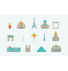 Paris historical and modern building vector image vector image