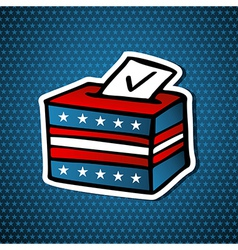 USA elections ballot box vector image vector image