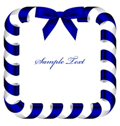 frame with blue ribbon vector image