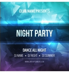 Night Dance Party Poster Background Template vector image