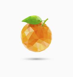 orange fruit in polygonal style vector image