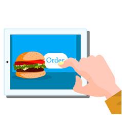 order fast food online concept vector image vector image
