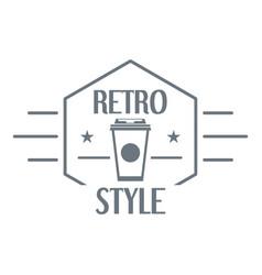 retro style logo simple style vector image
