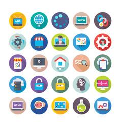 seo and digital marketing icons 12 vector image vector image