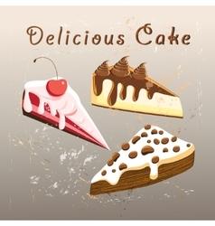 tasty sweet cake vector image