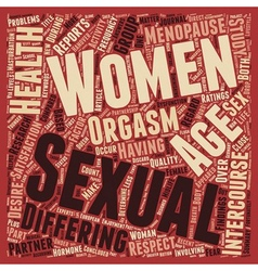 Women s Sexual Health Age Doesn t Matter text vector image