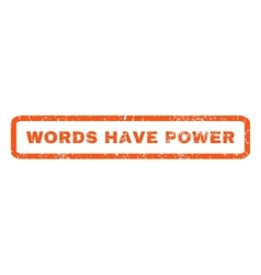Words Have Power Rubber Stamp vector image vector image