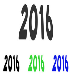 2016 perspective flat icon vector