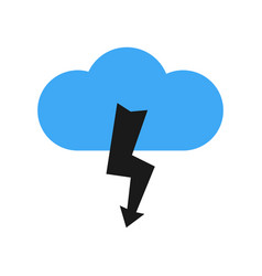 a cloud with a thunderstorm vector image