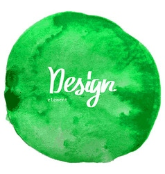 Abstract green watercolor circle background vector