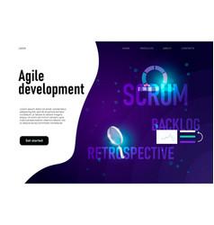 Agile development workflow method retrospective vector