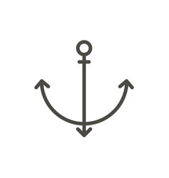 anchor icon line symbol vector image