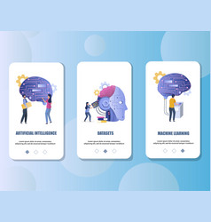 artificial intelligence mobile app onboarding vector image