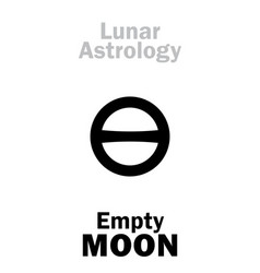 Astrology empty moon vector