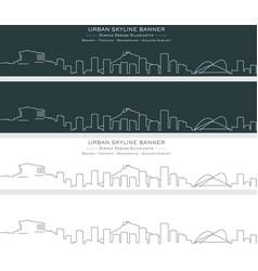 Athens single line skyline banner vector