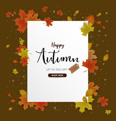 autumn sale background decor with autumn maple vector image