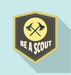 Be a scout axe logo flat style vector