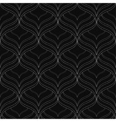 Black elegant seamless pattern vector image