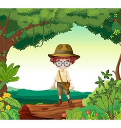 Boy explorer vector image