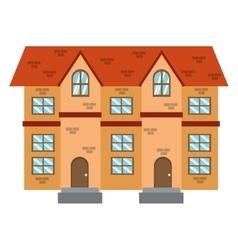 brick building icon vector image