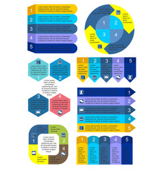 Business charts infographic set vector