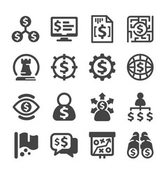 Business strategy icon vector