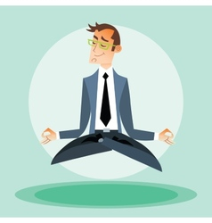Businessman engaged in yoga vector image