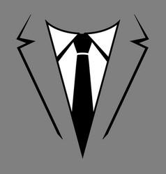 Businessman in suit head icon vector